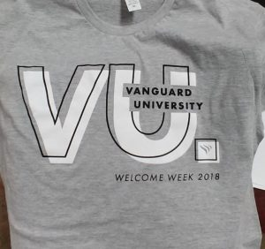 Vanguard University Welcome Week Shirt